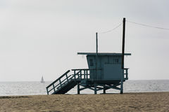 Lifeguard tower on the beach, in Venice Beach  Royalty Free Stock Images