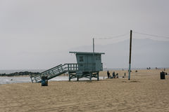 Lifeguard tower on the beach, in Venice Beach  Stock Images