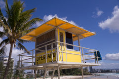 Lifeguard Tower on Beach Stock Images