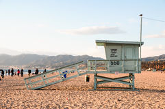 Lifeguard tower in California Stock Images