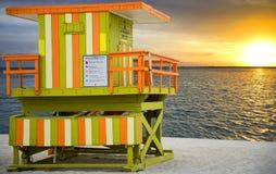 Lifeguard tower in Florida Royalty Free Stock Photos