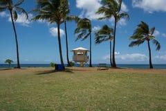 Lifeguard tower in Haleiwa, Oahu Stock Photo