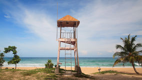 Lifeguard tower or house at Patong beach in Phuket Royalty Free Stock Photo