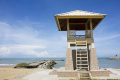 Lifeguard Tower at Jerudong Beach, Brunei Royalty Free Stock Image