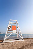 Lifeguard tower by the lake. Lifeguard tower at Ohio street beach, Chicago Stock Photos