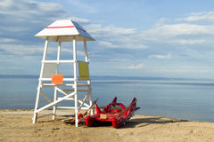 Lifeguard tower. Life guard tower on the beach royalty free stock photography