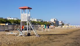 Lifeguard Tower on Lignano Beach stock images