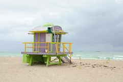 Lifeguard Tower at Miami Beach Stock Image