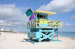 Lifeguard Tower at Miami Beach Stock Images