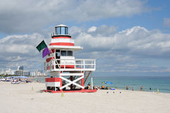 Lifeguard Tower at Miami Beach Royalty Free Stock Photos