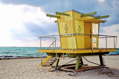Lifeguard Tower-Miami Beach Royalty Free Stock Photography