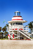 Lifeguard Tower, Miami Beach, Florida Royalty Free Stock Images