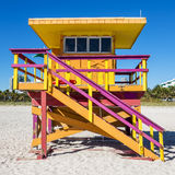 Lifeguard Tower, Miami Beach, Florida Stock Image