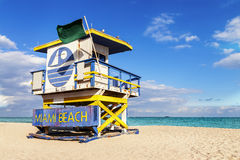 Lifeguard Tower, Miami Beach, Florida Royalty Free Stock Photos