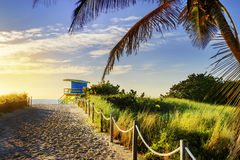 Lifeguard Tower, Miami Beach, Florida stock photography