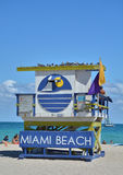 Lifeguard tower in Miami Beach Royalty Free Stock Images