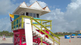 Lifeguard tower Miami Beach stock video stock video
