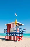 Lifeguard Tower in Miami Beach, USA stock images