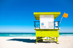 Lifeguard Tower in Miami Beach, USA Stock Photography
