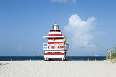 Lifeguard tower in Miami Royalty Free Stock Image