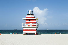 Lifeguard tower in Miami Stock Photography