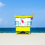 Lifeguard tower in Miami Stock Photo