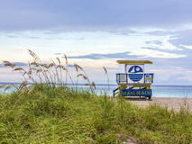 Lifeguard tower in Miami Stock Images