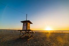 Lifeguard tower in Newport Beach Stock Photos