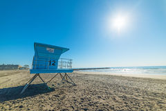 Lifeguard tower in Oceanside Stock Photography