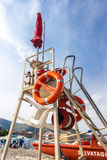 Lifeguard tower perspective Royalty Free Stock Images