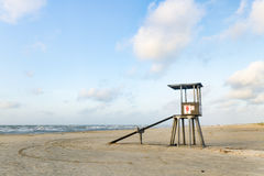 Lifeguard Tower on the Beach. Lifeguard Tower in Port Aransas Texas at the start of a summer morning Royalty Free Stock Photos