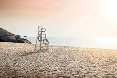 Lifeguard tower protecting the safety of tourist Royalty Free Stock Images