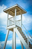 Lifeguard tower on Saint Lucia beach, Caribbean Islands Stock Images