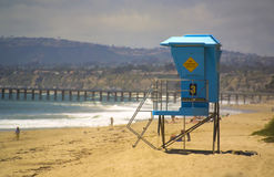 Lifeguard Tower in San Clemente Royalty Free Stock Photo