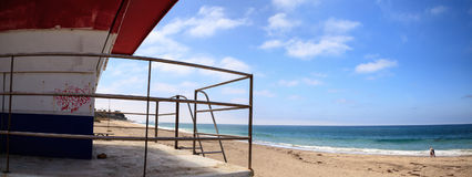 Lifeguard tower at the San Clemente State Beach Stock Image