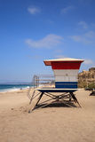 Lifeguard tower at the San Clemente State Beach Stock Photo