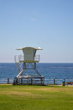 Lifeguard tower at San Diego California. Lifeguard tower by the sea at San Diego California Royalty Free Stock Images