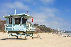 Lifeguard tower in Santa Monica, California. Stock Images