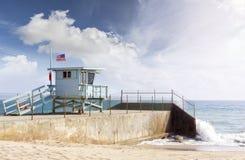 Lifeguard tower in Santa Monica, USA. Royalty Free Stock Photos