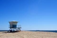 Lifeguard tower. Shot taken at Long Beach, California Stock Images
