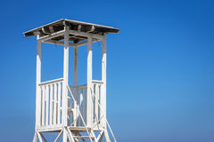 Lifeguard Tower On Sky Background Stock Photography