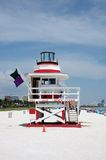 Lifeguard Tower in South Beach Stock Photos