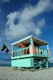 Lifeguard Tower in South Beach Stock Photo