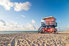 Lifeguard Tower in South Beach, Miami Beach, Florida Stock Photo