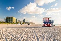 Lifeguard Tower in South Beach, Miami Beach, Florida Stock Photography
