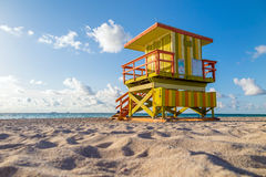 Lifeguard Tower in South Beach, Miami Beach, Florida Stock Images