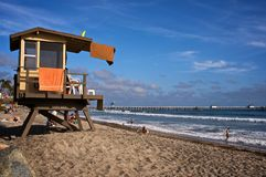 Lifeguard Tower in Southern California royalty free stock photography