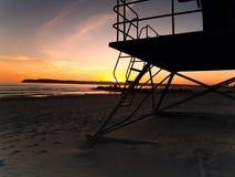 Lifeguard tower sunset Royalty Free Stock Photography