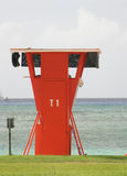 Lifeguard tower T1 Royalty Free Stock Images