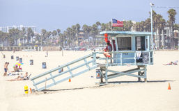 Lifeguard tower in Venice Beach. Stock Images